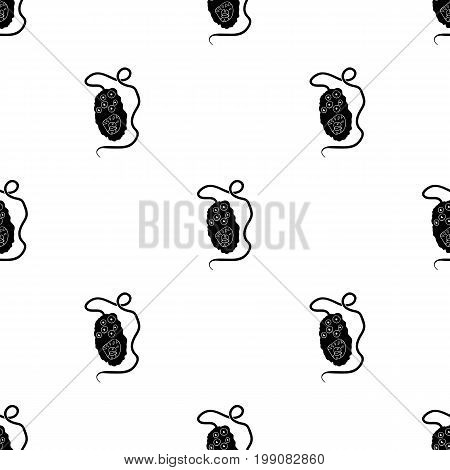 Yellow virus icon in black design isolated on white background. Viruses and bacteries symbol stock vector illustration.