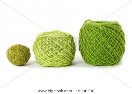 Green Gamma Clews In A Row, Isolated
