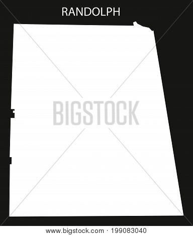 Randolph County Map Of Alabama Usa Black Inverted Illustration