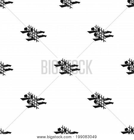 Water filtration through carbonic filter icon in black design isolated on white background. Water filtration system symbol stock vector illustration.