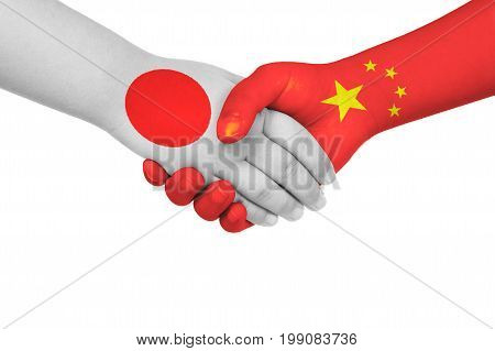 Handshake Between China And Japan