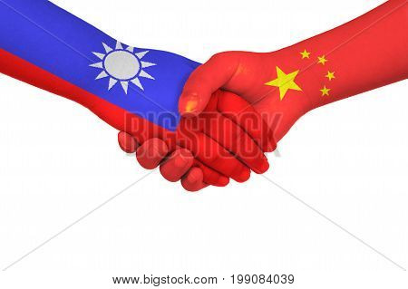 Handshake Between China And Taiwan