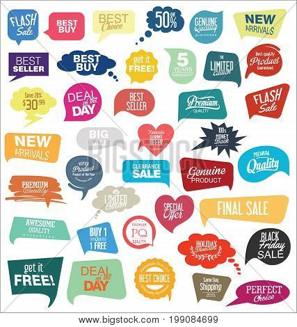 Modern Sale Sticker And Tag Colorful Collection.eps