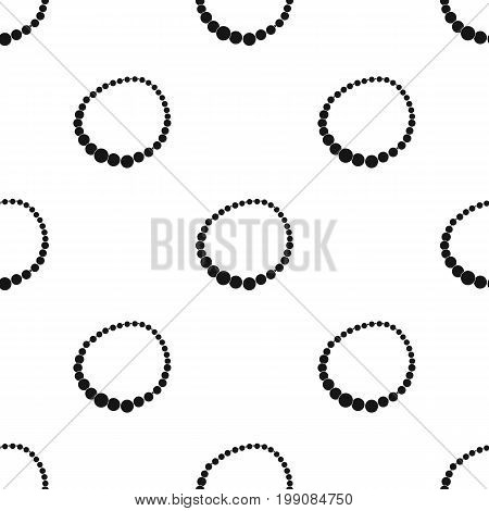 Red female necklace of precious stones. Dressing for women under the dress.  Woman clothes single icon in black style vector symbol stock web illustration.