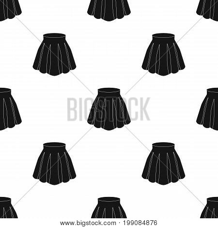 Orange women's light summer skirt with pleats. Beautiful women's summer clothing.  Woman clothes single icon in black style vector symbol stock web illustration.