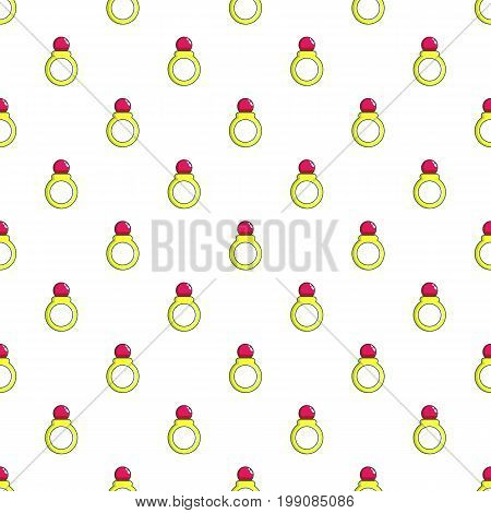 Princess ring pattern in cartoon style. Seamless pattern vector illustration
