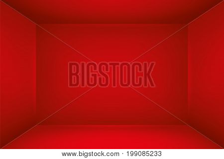 The inner space of the box. Empty white room. Vector design illustration. Template for you business project