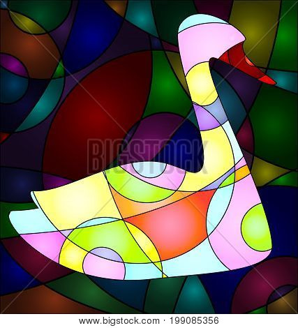 abstract colored background image of bird consisting of lines
