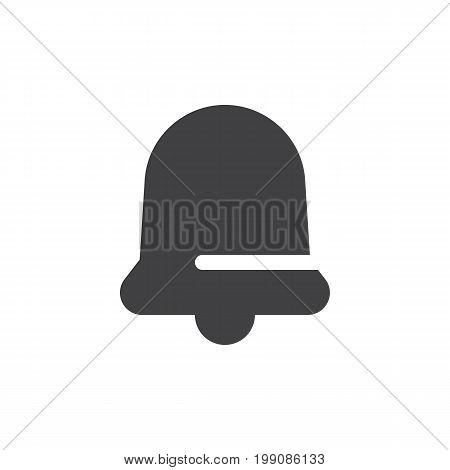Bell simple icon vector, filled flat sign, solid glyph isolated on white. Notification symbol, logo illustration. Pixel perfect vector graphics