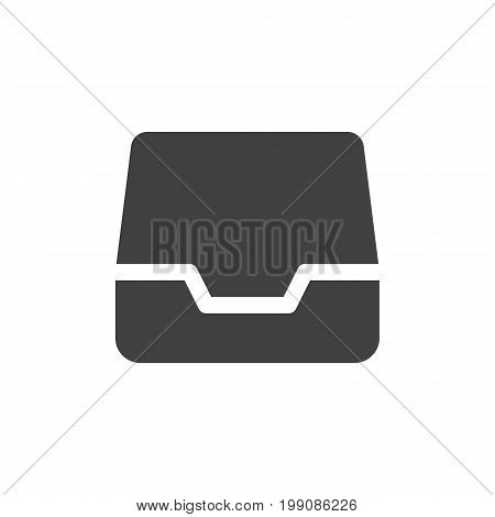 Inbox simple icon vector, filled flat sign, solid glyph isolated on white. Symbol, logo illustration. Pixel perfect vector graphics