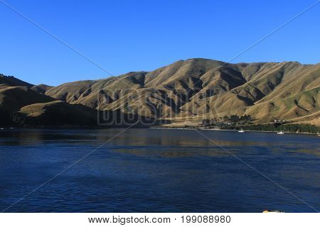 Beautiful landscape of the mountains and lake Wanaka of Treble Cone located on the South island of New Zealand