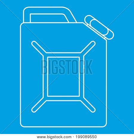 Jerrycan icon blue outline style isolated vector illustration. Thin line sign