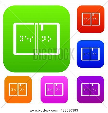 Braille set icon in different colors isolated vector illustration. Premium collection