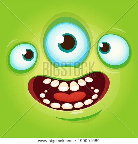 Alien face cartoon creature avatar illustration vector stock. Prints design for t-shirts