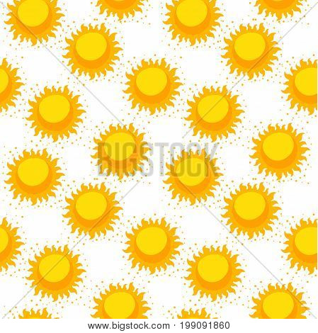 Seamless pattern with hand drawn suns. Design your background or web screensavers. Sun space. Seamless pattern.