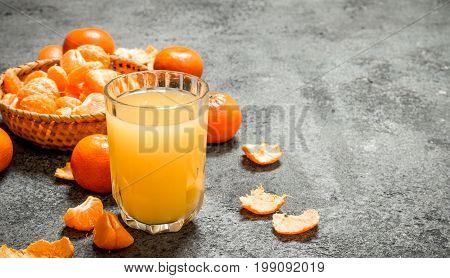 Freshly Squeezed Juice Of Ripe Tangerines.