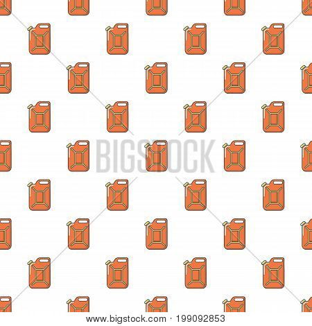 Canister of gasoline pattern in cartoon style. Seamless pattern vector illustration
