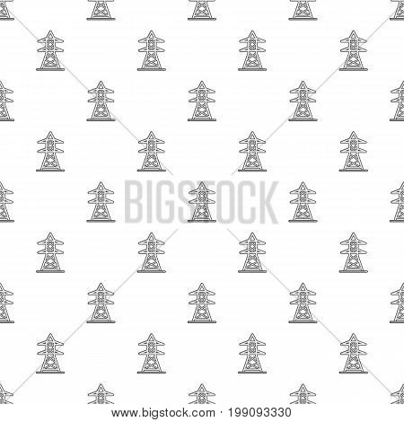 Electric tower pattern in cartoon style. Seamless pattern vector illustration