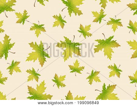 Autumn leaves seamless pattern. Endless background can be used for wallpaper, textile and web page background.