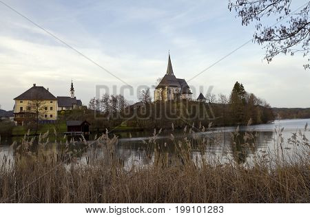 Maria Worth Romantic Benedictine church in Carinthia