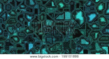 Seamless Electronic Technical Background Textures