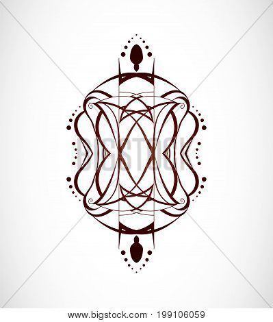 Vector illustration with abstraction. Illustration 10 version