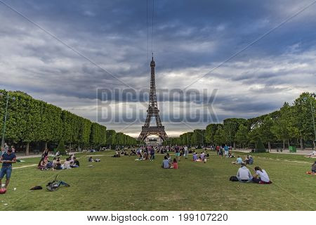 Champ De Mars In Paris, France