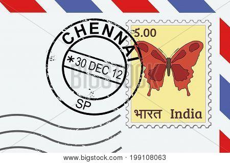 Chennai Post Stamp