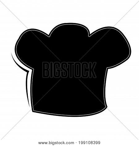 Isolated toque silhoueete on a white background, vector illustration