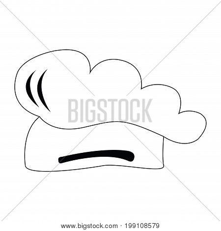 Isolated toque outline on a white background, vector illustration