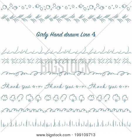 Girly Hand Drawn Decoration Line Set 04