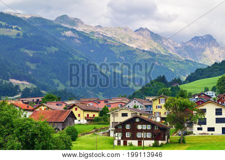 Stunning Alpine Landscape In Canton Uri, Switzerland