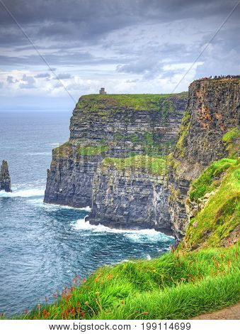 The Cliffs of Moher in County Clare, Ireland.