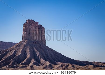The formation known as Chimney Rock is on the Ute Mountain Reservation located in south western colorado.