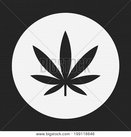 Marijuana icon. Hemp sign. Medical marijuana isolated on background. Vector stock.