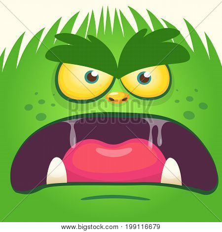 Cartoon gremlin face. Vector illustration of gremlin avatar