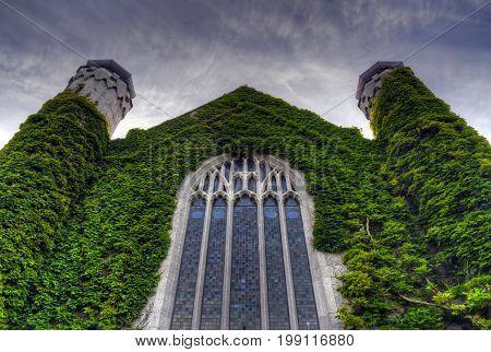 GALWAY IRELAND - JUNE 2 2017 - The National University of Ireland in Galway.