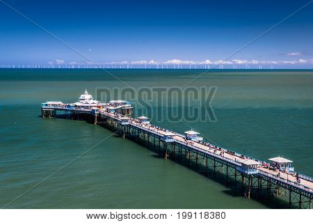 Llandudno Victorian Seaside Town and Pier in North Wales