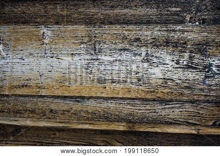 Wood texture background old porous dry cracked empty aged timber rough surface close-up material color natural vintage plank