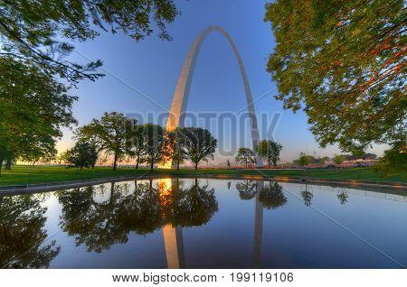 The Gateway Arch in St. Louis Missouri.