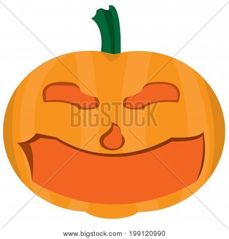 Isolated halloween pumpkin on a white background, vector illustration