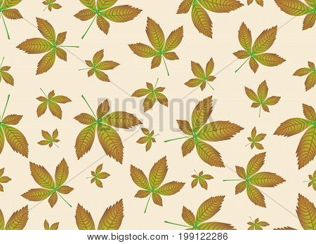 Autumn leaves endless background. Vector seamless pattern. Can be used for wallpaper, textile and web page background.