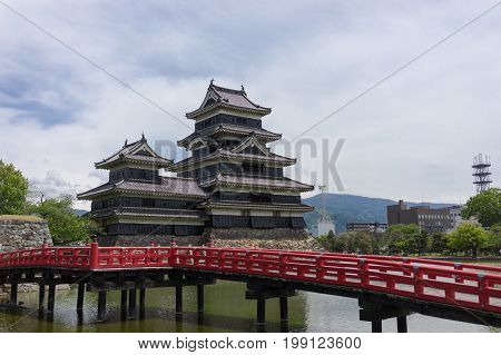 Matsumoto, Japan - May 16, 2017 : Matsumoto Castle is one of the most complete and beautiful among Japan's original castles.