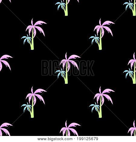Palm seamless pattern vector doodle, print, coco, sketch, styled, beautiful, trendy, season, element