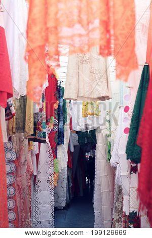 Moroccan Alley, lace and popular culture Pernambuco Brazil