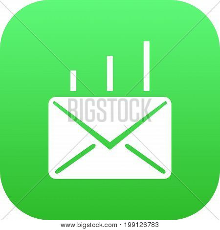 Vector Mail Element In Trendy Style.  Isolated Post Icon Symbol On Clean Background.