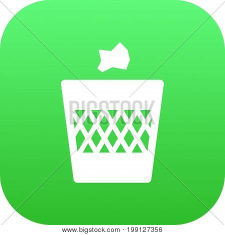 Vector Urn  Element In Trendy Style.  Isolated Wastebasket Icon Symbol On Clean Background.