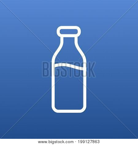 Isolated Milk Glass Outline Symbol On Clean Background