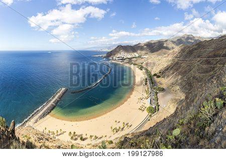 Las Teresitas beach at the north of Tenerife island, Spain