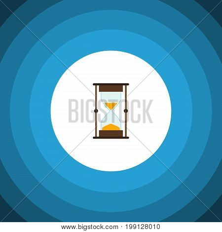 Measurement Vector Element Can Be Used For Hourglass, Sandglass, Timer Design Concept.  Isolated Sandglass Flat Icon.